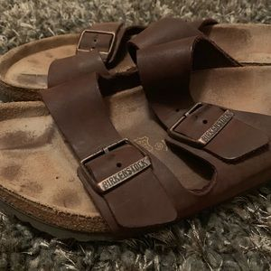 "Birkenstock classic ""Bioko-Flor"" in dark Brown"